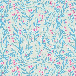 Tangled_Blue_Vine_Magenta_Blossom
