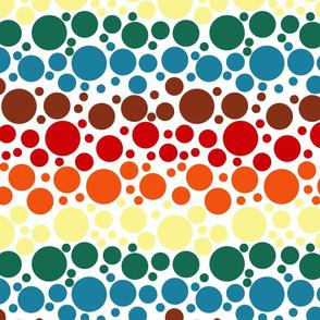 Chocolate Rainbow Dots - Large