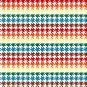 Houndstooth Chocolate Rainbows 1 Inch on White Background