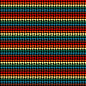 Houndstooth Chocolate Rainbows Half Inch on Black Background