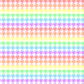 Houndstooth Pastel Rainbow 1 Inch on White Background