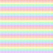 Houndstooth Pastel Rainbow Half Inch on White Background