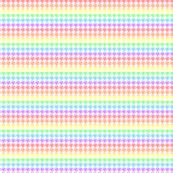 Houndstooth Pastel Rainbow Half Inch on White Background