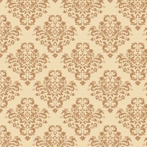 Damask on Tan Background
