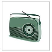 green retro radio pattern-ed