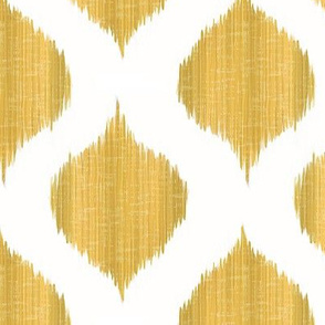 Lela Ikat in Old Gold