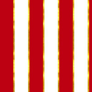 Puttin' on the Ritz Stripe in Red and Gilt