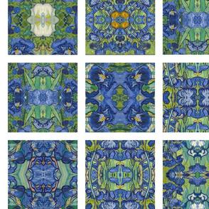 Van Gogh Irises Cheater Quilt Squares