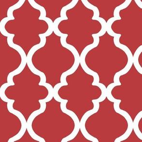 Quatrefoil - Aurora Red