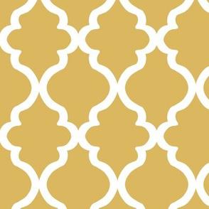 Quatrefoil - Misted Yellow
