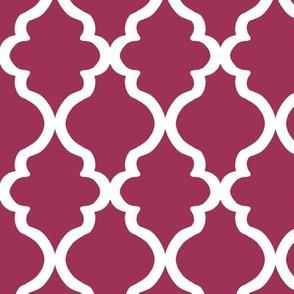 Quatrefoil - Sangria