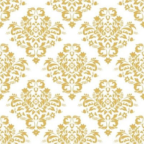 Damask - Misted Yellow