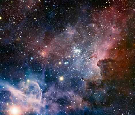 Carina nebula fat quarter fabric spacefem spoonflower for Nebula material