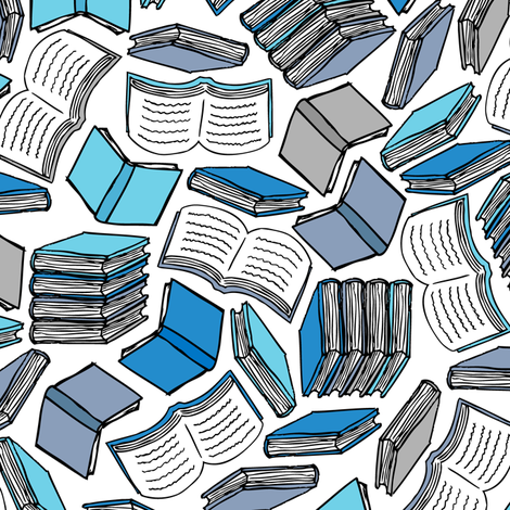 So Many Books... (Blue)