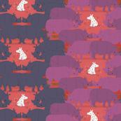 white rhino, red