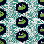 Whales & Waves Pattern