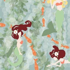 Little Playful Mermaids