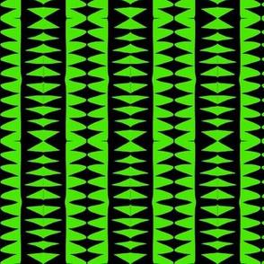 Sawtooth Stripes Green