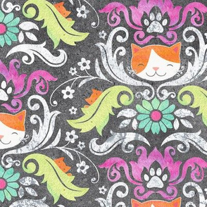 Fancy Cat Damask