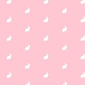 White Bunny Pink Polka Dot