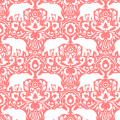Elephant Damask Coral