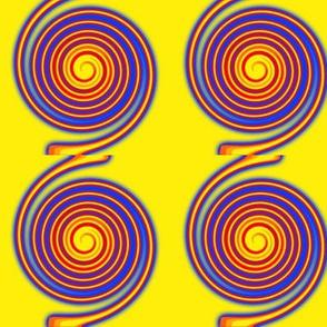 Mod Neon Twirly Swirls