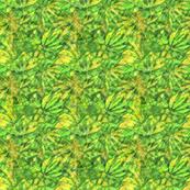 Yellow Green Cannabis Batik