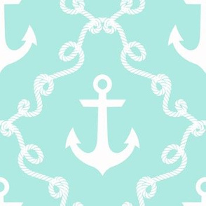 Anchor Damask Beach Glass