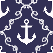 Anchor Damask Navy
