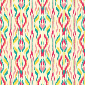 Ikat Stripe Red Teal