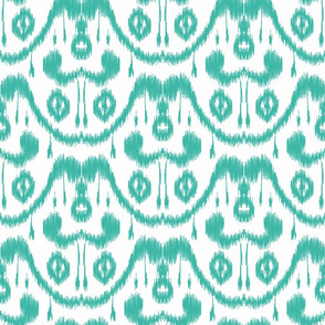 Ikat Waves Teal