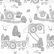 Large Grey Shire Toile