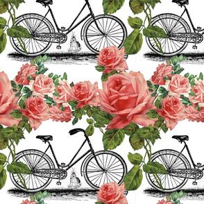 Vintage Bike with Roses