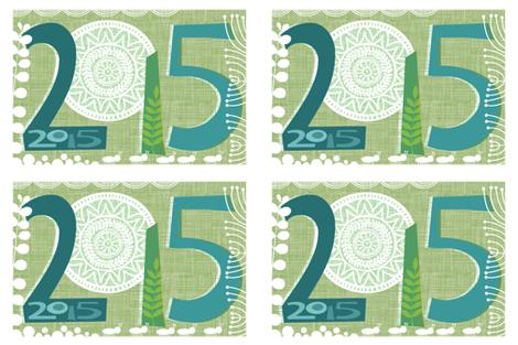 Green 2015 Napkin