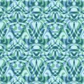 wave damask in aqua