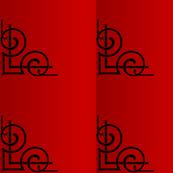 art deco red elegant chic vintage