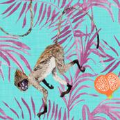 Fruity Monkeys (in Aquamarine)