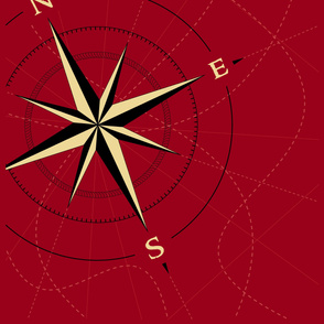 Compass on Red