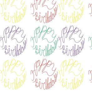 Happy Birthday Multicolored