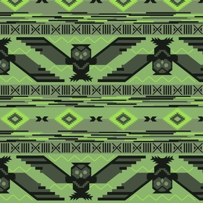 Aztec Owl Green