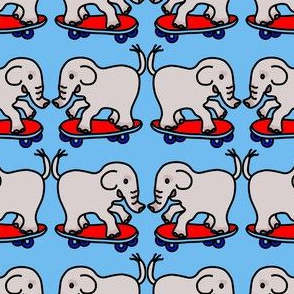 Skateboarding Elephants