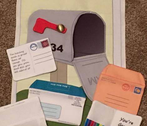 Quiet Book - Mailbox