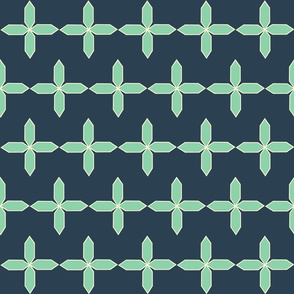 Mint and Cream Star