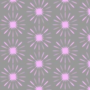 Starburst large - lavender & grey
