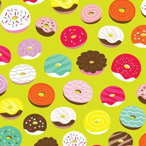 Cute donuts birthday party sweet candy bakery illustration print