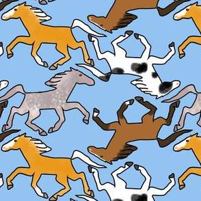 Trotting Horses