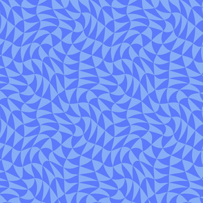 triangle swirl in chicory blue