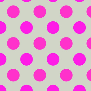 Polka Dot Grey and Fuchsia