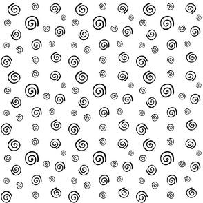 Spirals Pattern black & white