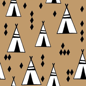 Teepees - Lion Brown by Andrea Lauren